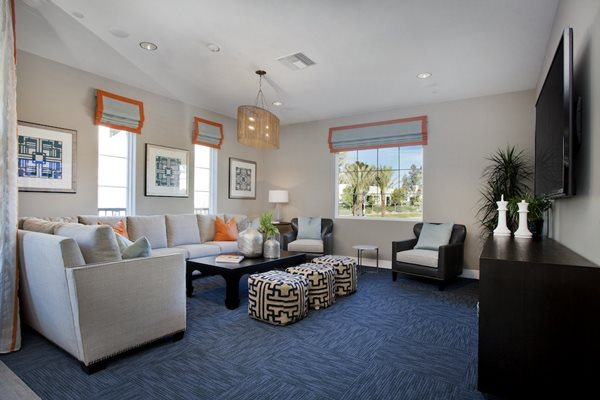 Lounge with Kitchen, Flat Screen TVs and Game Room, at Preserve at Melrose, Vista, CA
