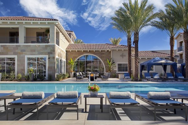 Poolside BBQ's and Firepit, at Preserve at Melrose, California, 92083