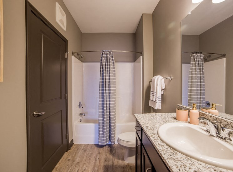 Elegant Bathroom Mosaic at Levis Commons Apartments in Perrysburg, OH near Toledo