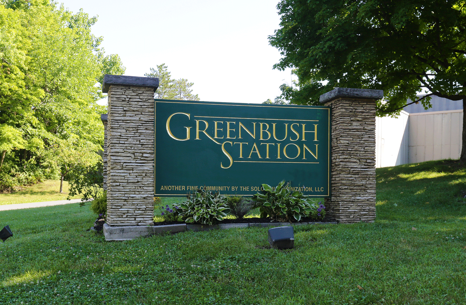 Greenbush Station Welcome Sign