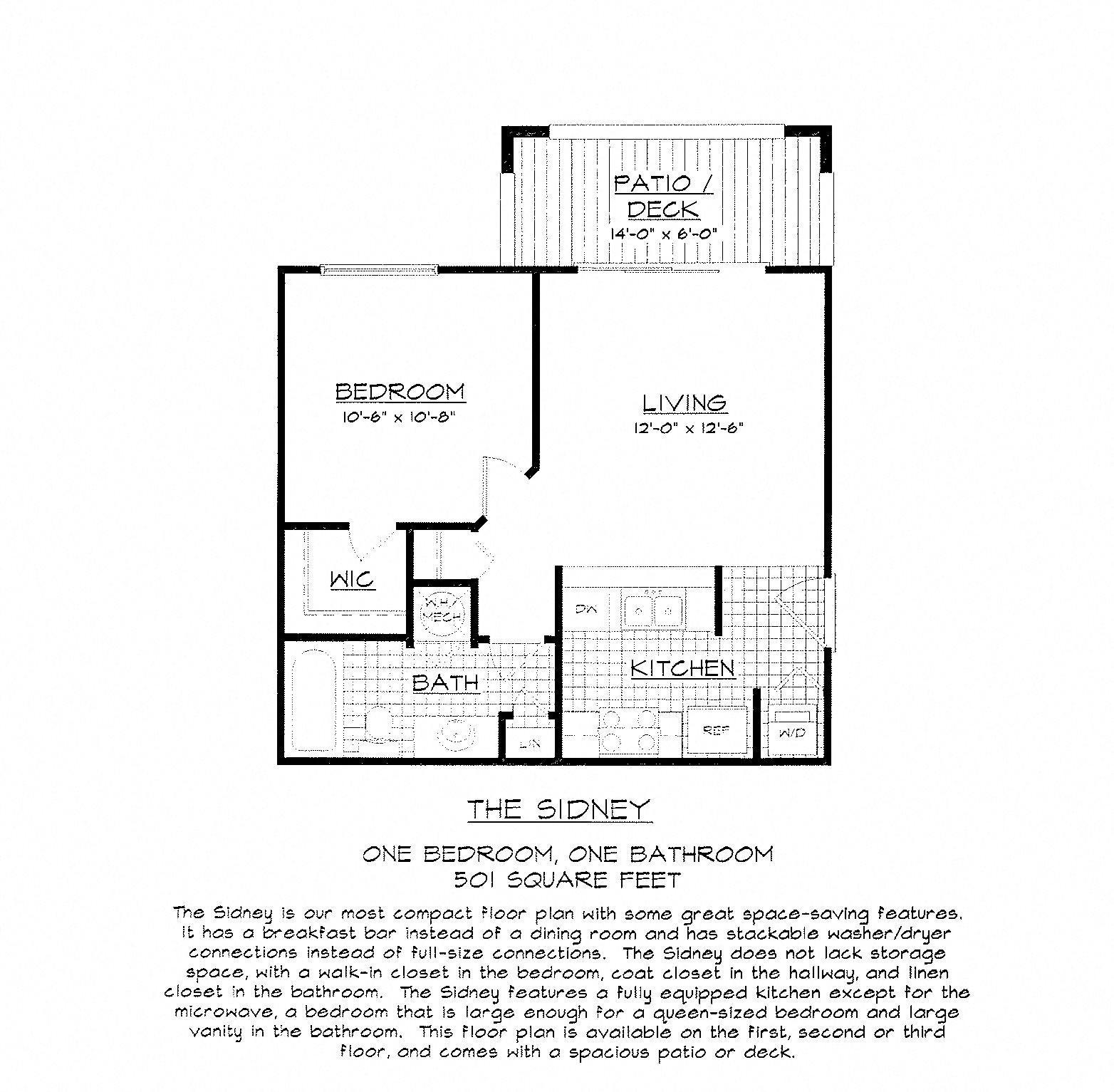 The Sidney Floor Plan 1