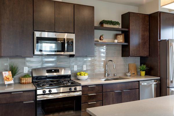Stainless steel appliances at The M on Hennepin, Minnesota