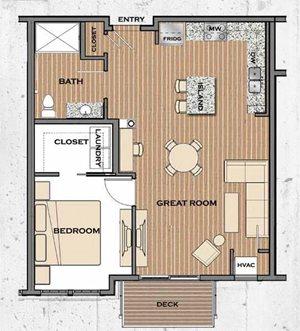 Floor plan at Victoria Flats, Minnesota