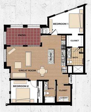 Floor plan at Victoria Flats, Victoria, Minnesota