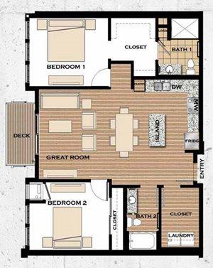 Floor plan at Victoria Flats, Victoria, 55386