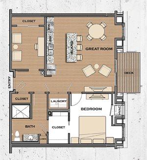 Floor plan at Victoria Flats, Victoria