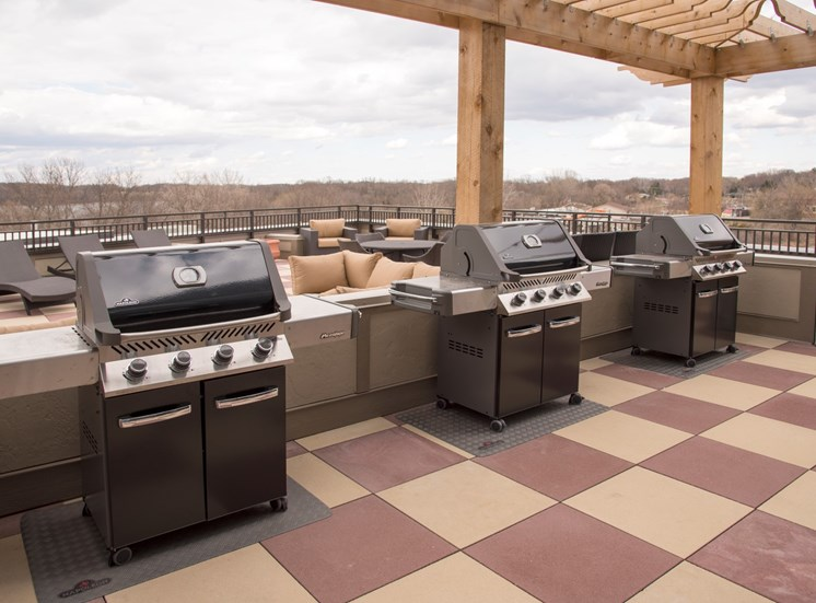 Rooftop Grilling Area at Victoria Flats