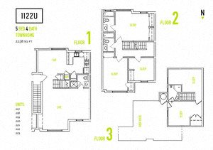 5 bedroom Floorplan at 1122U Apartments, 1122 University Ave, Berkeley