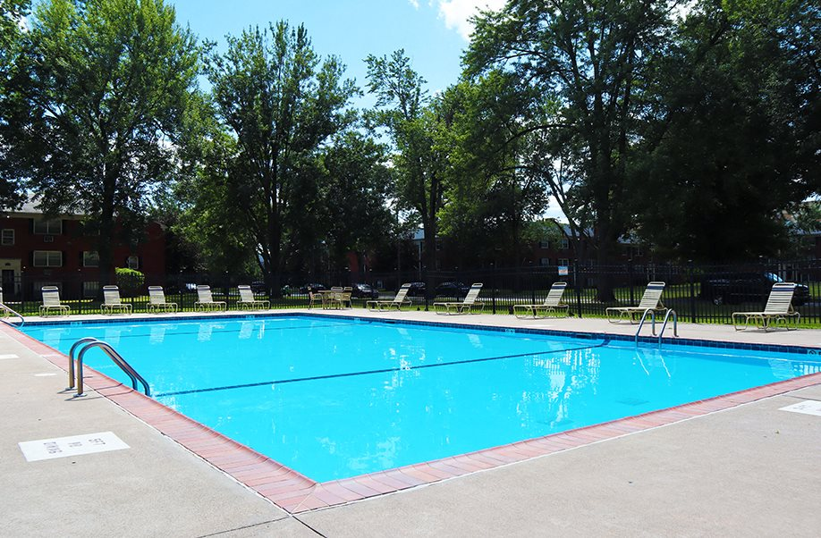 Sundeck and Pool at Georgetown Village Apartments in Toledo, OH