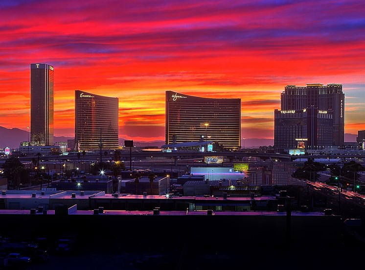 Actual Views from the Sky Lounge and Units Facing the Strip at Lotus, Las Vegas