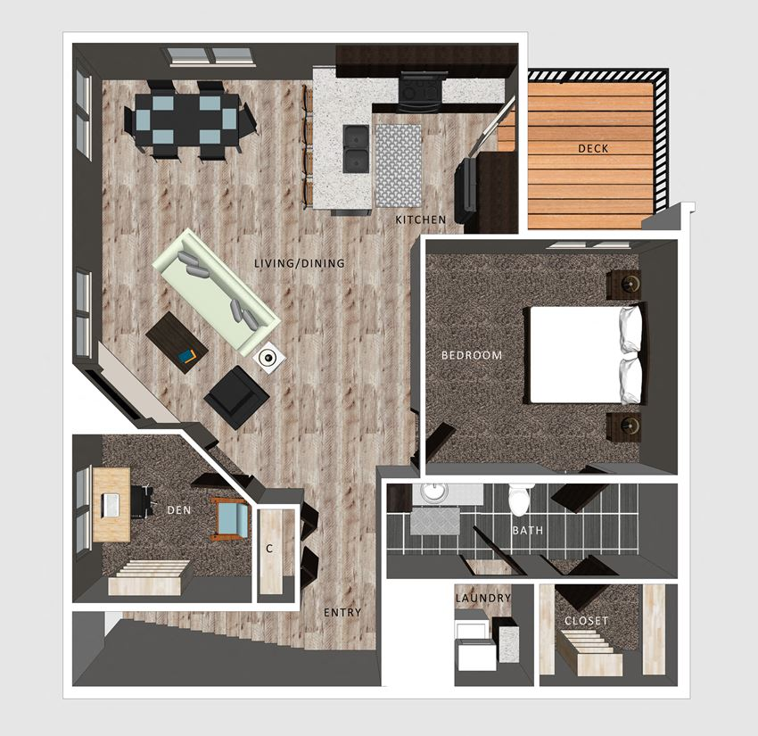 Baxter floor plan at The Villas at Falling Waters in Omaha, NE