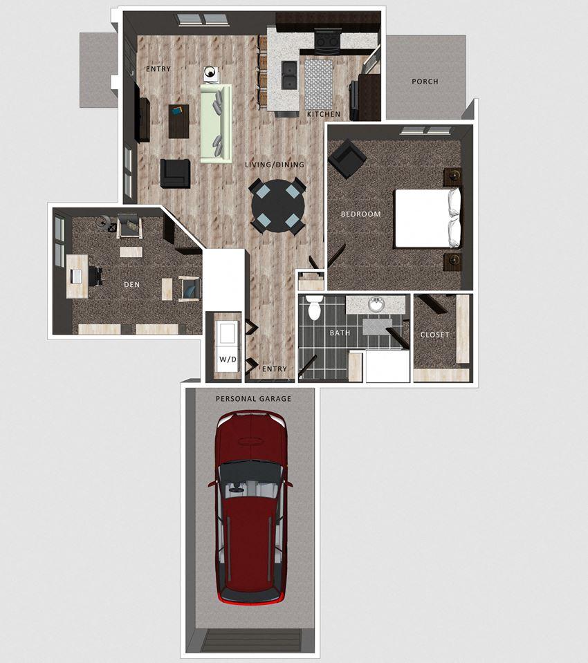 Casper floor plan at the Villas at Falling Waters in Omaha, NE