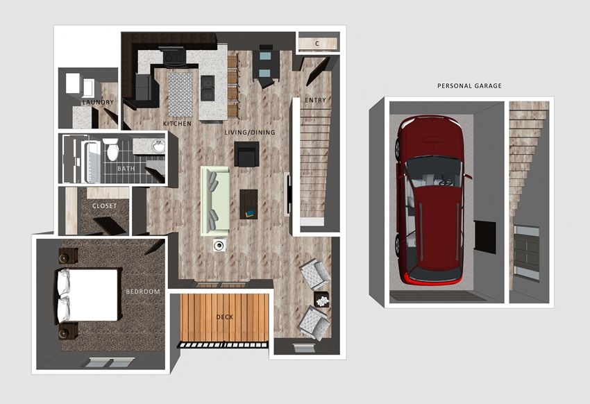 Unit D floor plan- The Villas at Falling Waters