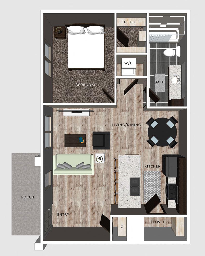 The Grant floor plan at The Villas at Falling Wates