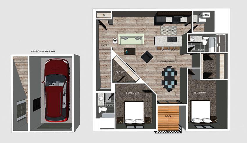 Alexander floor plan at The Villas at Falling Waters