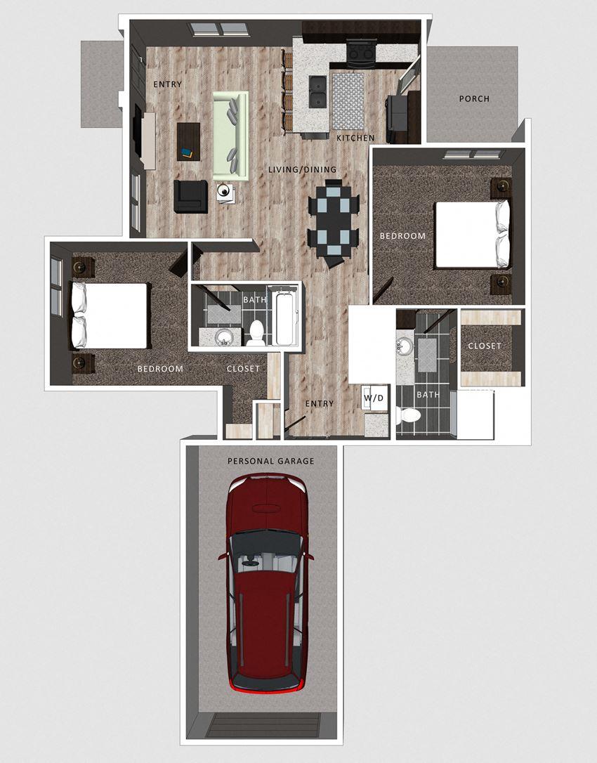 Camden floor plan at the Villas at Falling Waters in Omaha, NE