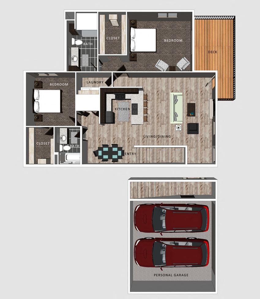 Luna floor plan at the Villas at Falling Waters