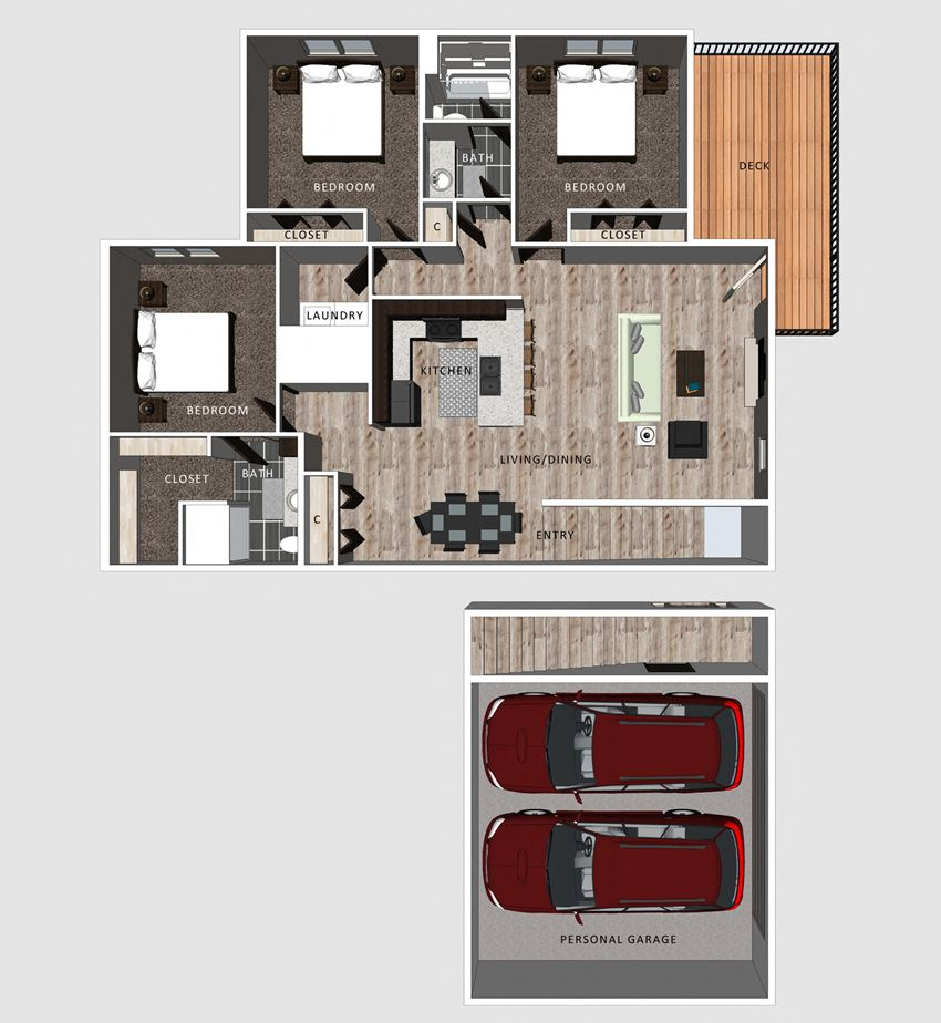 Jameson Floor plan at the Villas at Falling Waters
