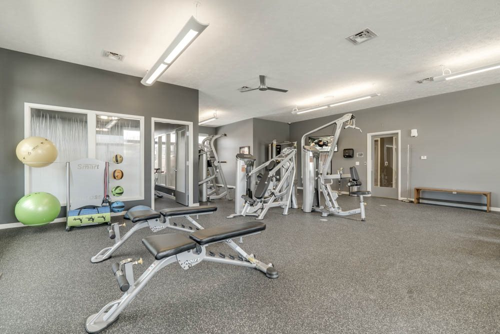 Fitness center at The Villas at Falling Waters in west Omaha NE
