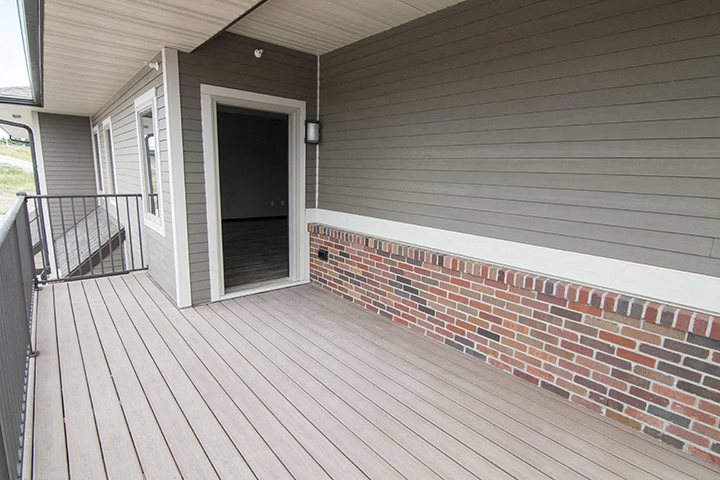 Patios or decks are included at The Villas at Falling Waters in Omaha, NE