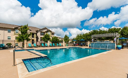 Swimming Pool With Cabanas at Fox Hill, Austin, 78736