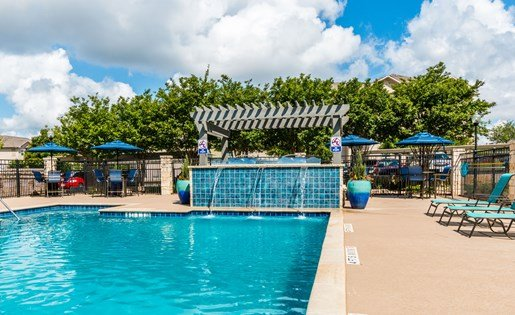 Pool Side Relaxing Area at Fox Hill, Austin, TX, 78736
