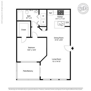 Andover Floor Plan at The Adelaide, Orlando