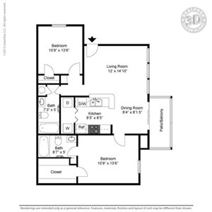 Chelsea Floor Plan at The Adelaide, Orlando, 32821
