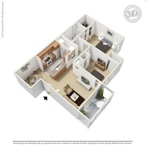 Barclay 3D Floor Plan at The Adelaide, Florida, 32821