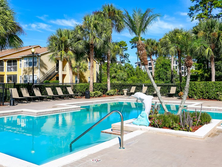 Picturesque Pool And Cabana Setting at The Adelaide, Orlando, FL