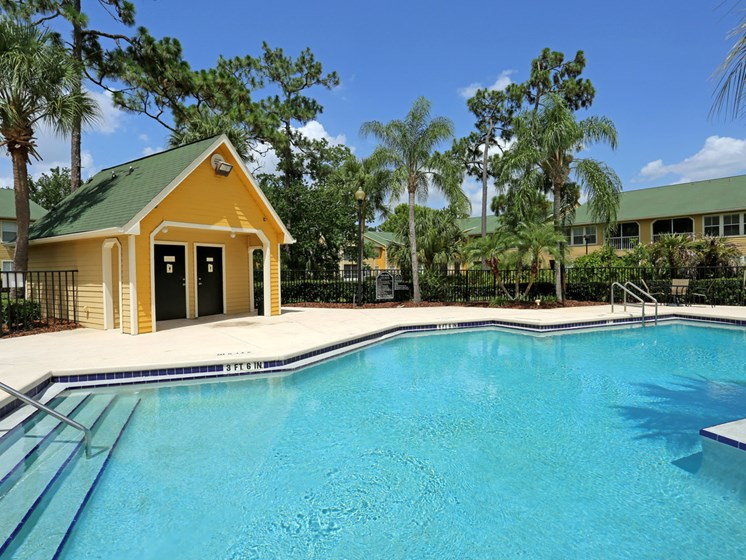 Lounge Swimming Pool With Cabana at The Adelaide, Orlando, 32821