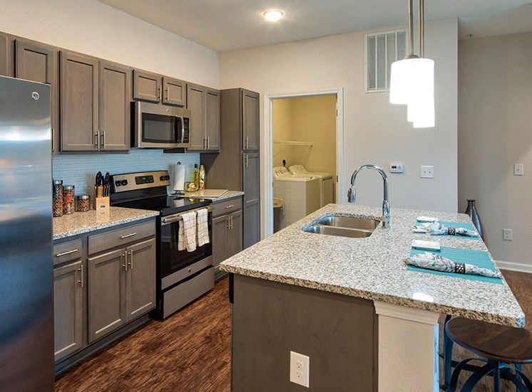 Kitchen at Luxury Apartments in Virginia Beach