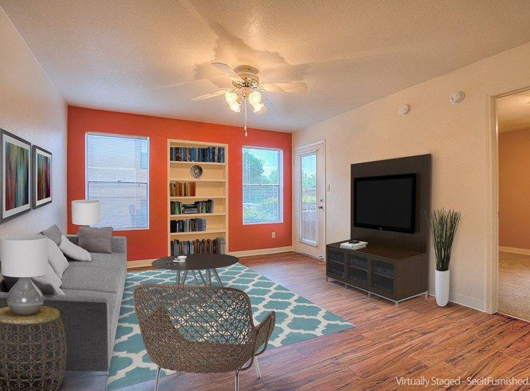 Spacious Living Rooms With Modern Amenities at The Overlook Apartments, 6200 Eubank Blvd NE, NM