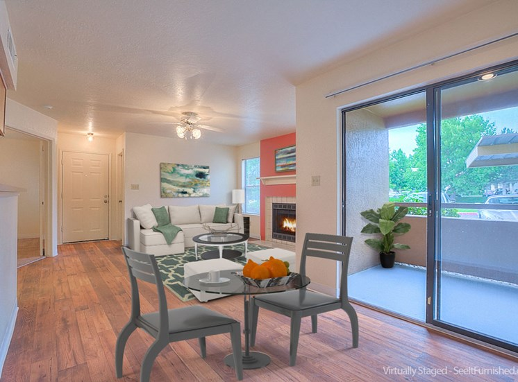 Furnished Dining Area at The Overlook Apartments, Albuquerque, New Mexico