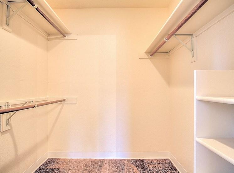 Generous Sized Walk-In Closet at The Overlook Apartments, 6200 Eubank Blvd NE