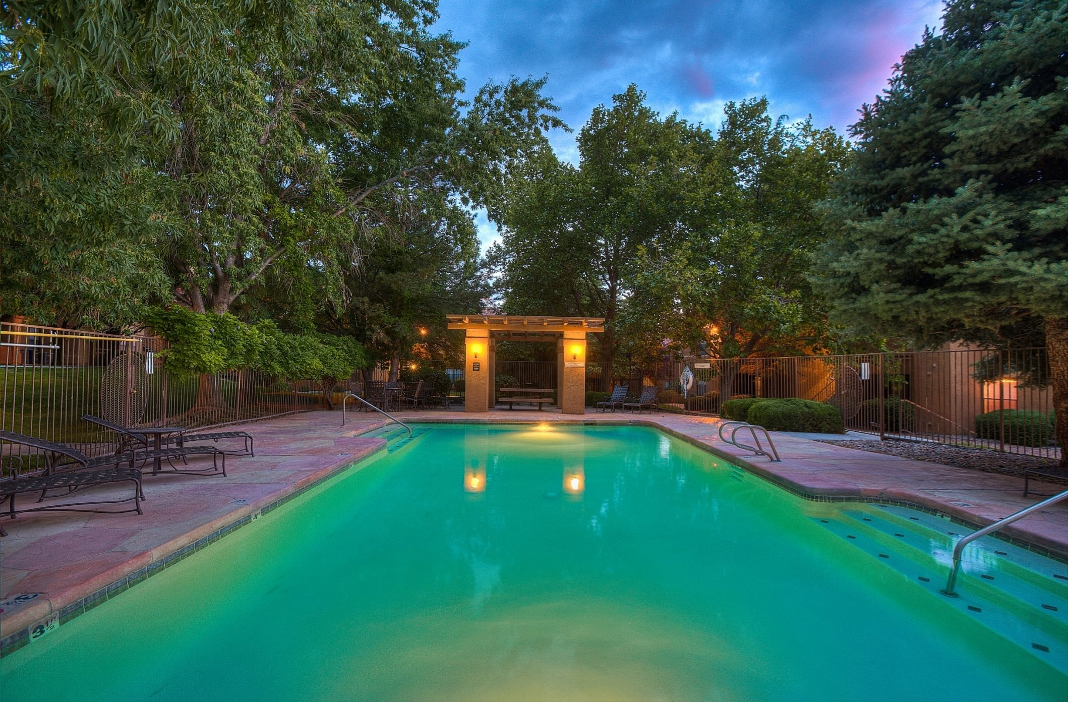 Resort-Style Pool at The Overlook Apartments, Albuquerque, NM