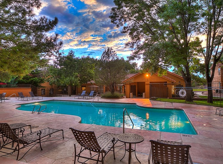 Two Heated Pools and Spas With Outdoor Decks at The Overlook Apartments, Albuquerque, New Mexico