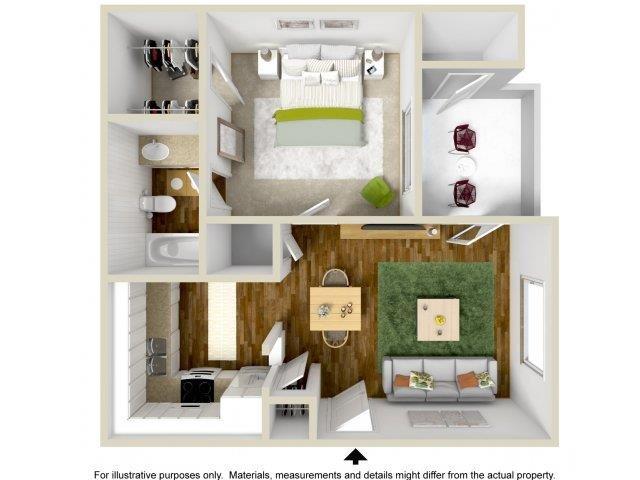 1 2 Bedroom Apartments In Ne Heights Albuquerque The Overlook