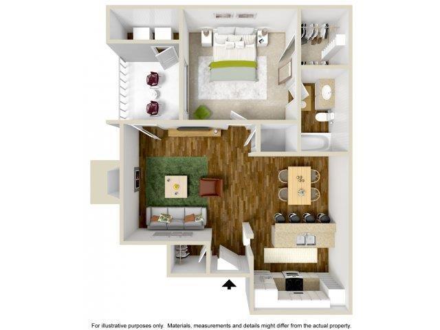 Floorplan at The Overlook Apartments, Albuquerque, New Mexico