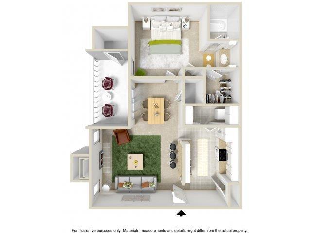 Floorplan at The Overlook Apartments, 6200 Eubank Blvd NE