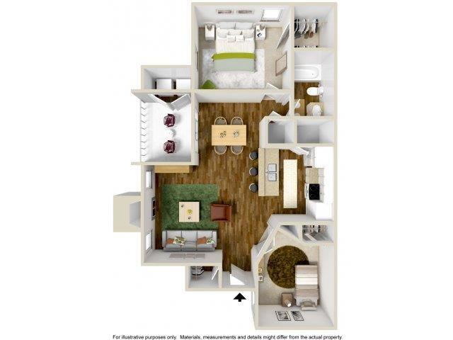 Floorplan at The Overlook Apartments, 6200 Eubank Blvd NE, NM