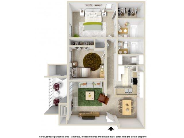 Floorplan at The Overlook Apartments, Albuquerque, 87111