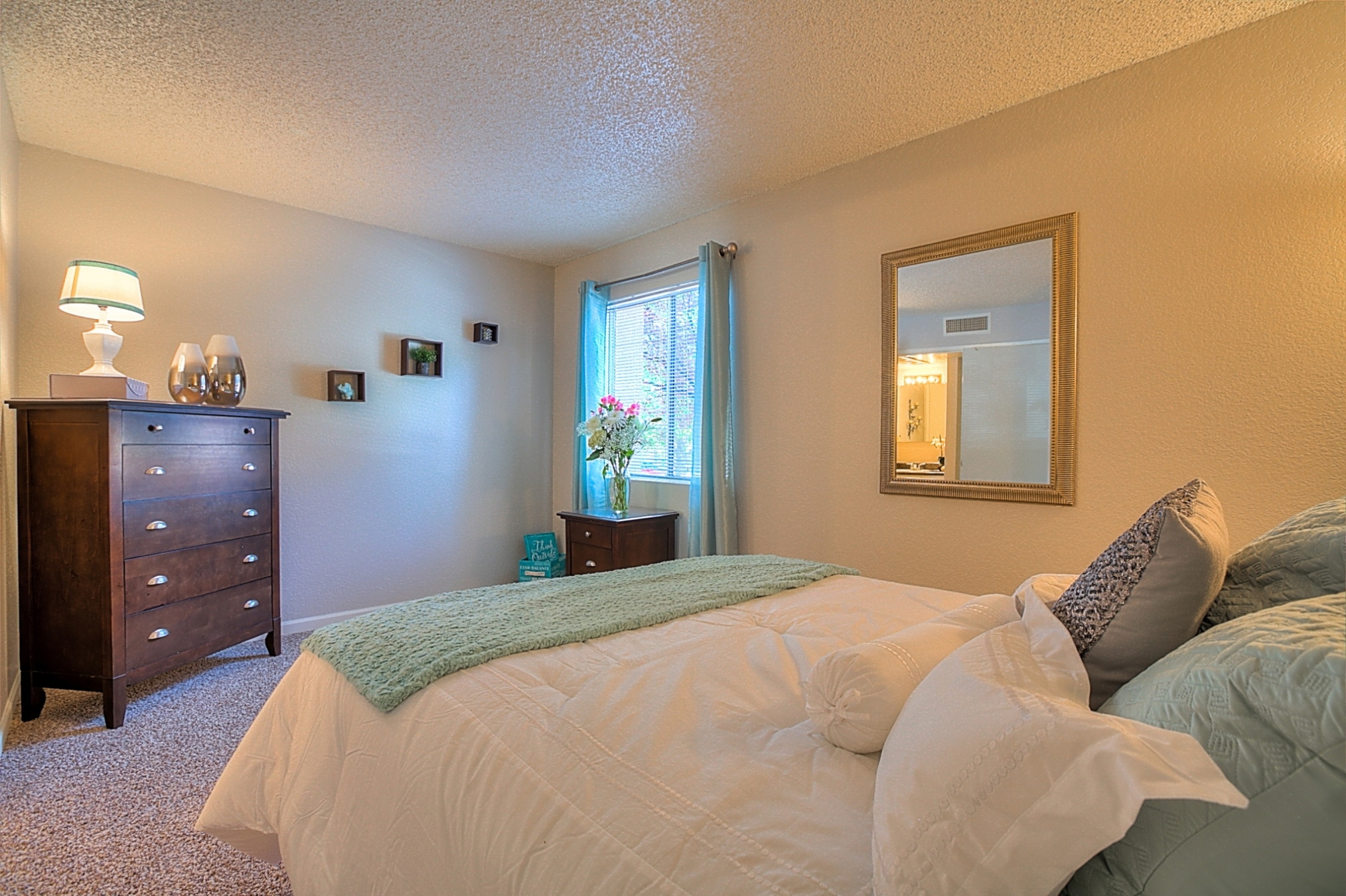 Private Master Bedroom Balcony With Over sized Windows at Eagle Pointe Apartments, Albuquerque, 87111