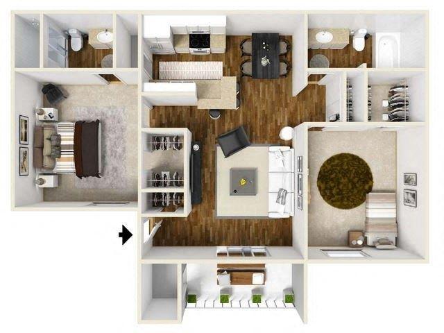 Floorplan at Eagle Pointe Apartments, 4401 Morris Street NE, NM