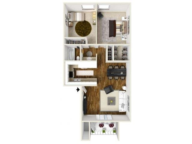 Floorplan at Eagle Point Apartments, NM, 87111