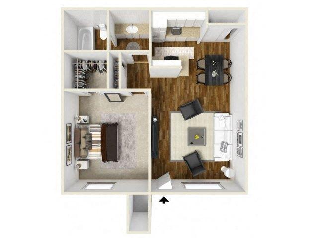 Floorplan at Eagle Pointe Apartments, 4401 Morris Street NE