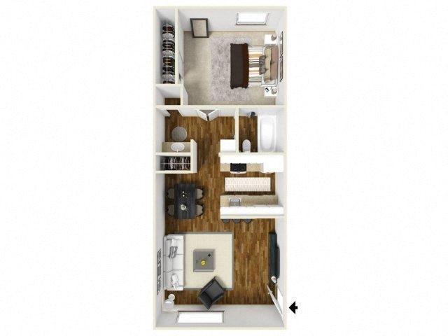 Floorplan at Eagle Pointe Apartments, Albuquerque, NM