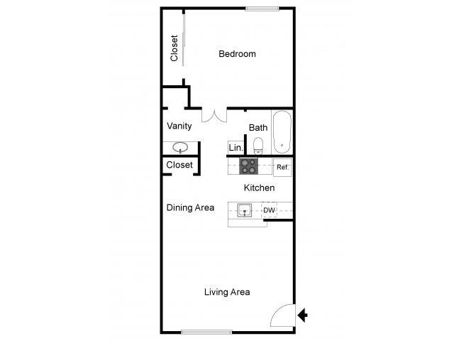 Floorplan at Eagle Point Apartments, Albuquerque, NM