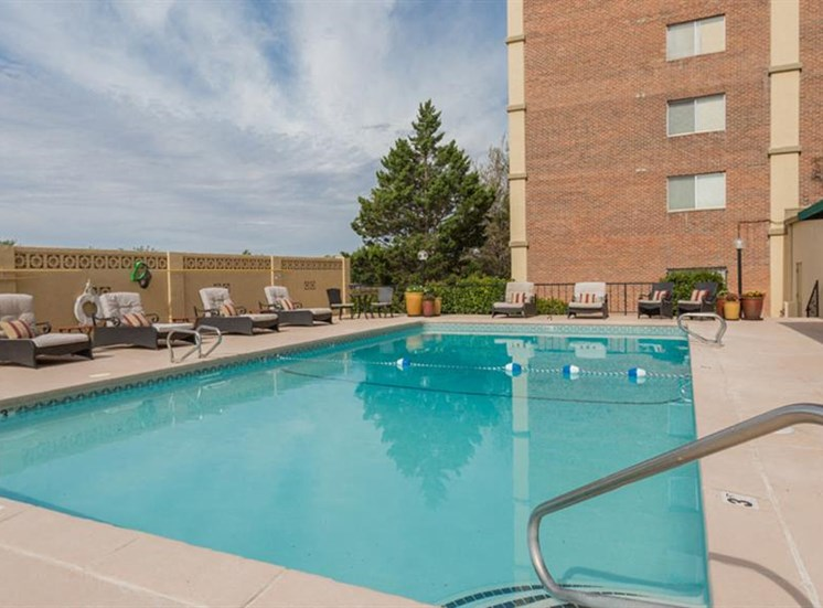 Resort-Style Pool at The Towers Apartments, 5404 Montgomery Boulevard NE, NM
