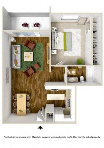 Floorplan at The Towers Apartments, 5404 Montgomery Boulevard NE, NM